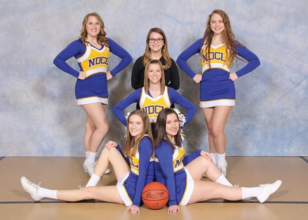 2016-2017 JV Basketball Cheerleaders