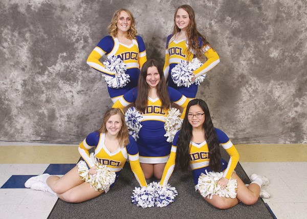 2017-2018 Varsity Basketball Cheerleaders