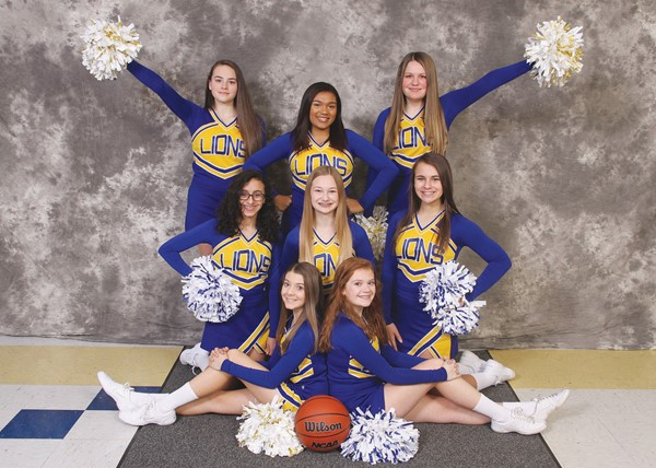 2017-2018 JV Basketball Cheerleaders