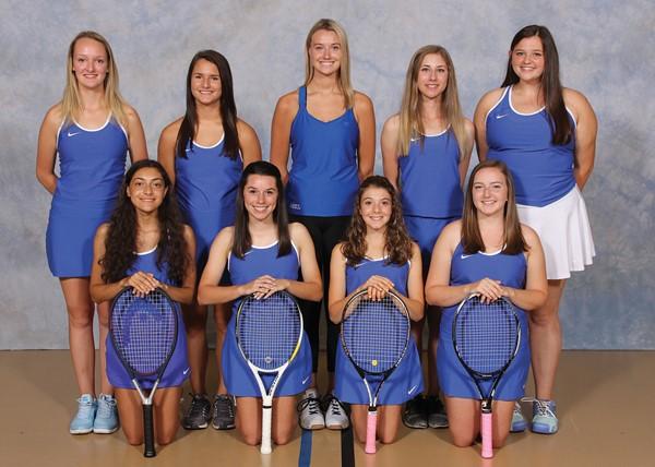 "2017 Girls' ""B"" Varsity Tennis Team Picture"