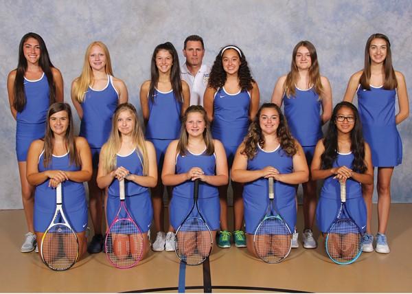 2017 Girls' Junior Varisty Tennis Team Picture