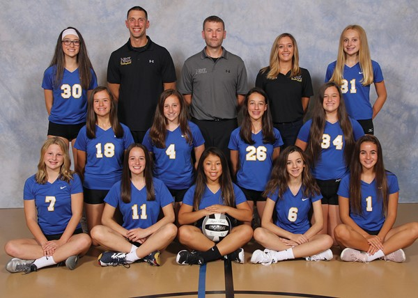 2017 Freshman Volleyball Team Picture