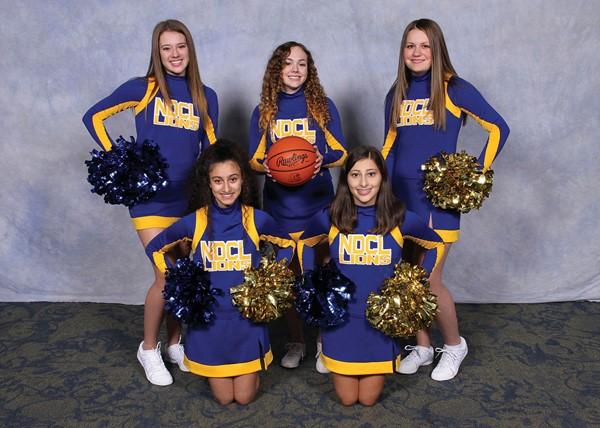 JV Basketball Cheerleaders