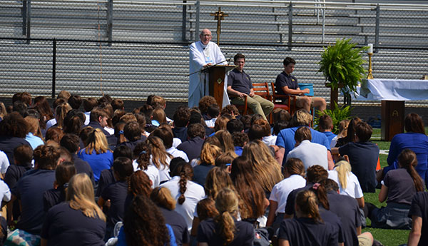 Mass at Lozick Field