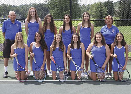 Girls Varsity A Tennis Team